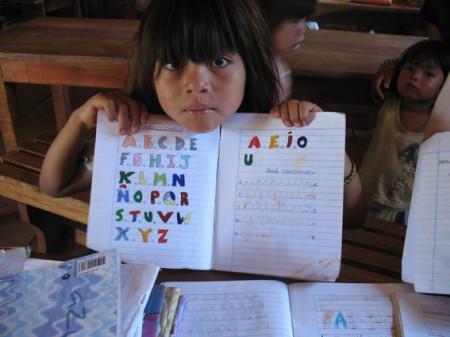 Schülerin in Caramelito